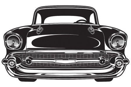 bel air: Chevy Bel Air 1956 Illustration