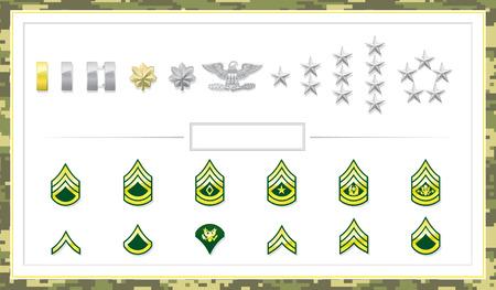 軍クラス徽章  イラスト・ベクター素材