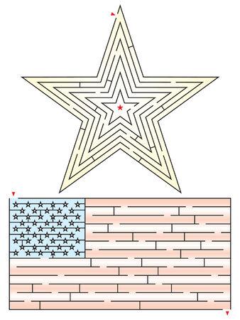 Patriotic Mazes 版權商用圖片 - 29122665