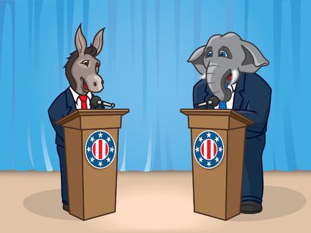 political rally: Dibattito presidenziale Vettoriali