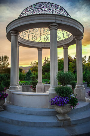 formal garden: Domed Pergola