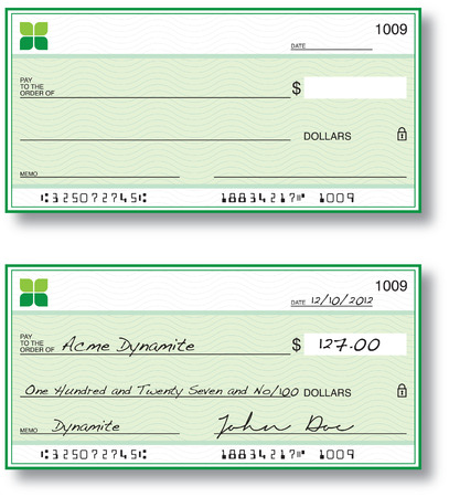 blank check: Cheques