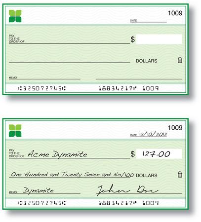 chequera: Cheques