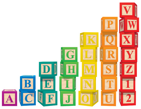 alphabetical order: Alphabet Blocks Illustration