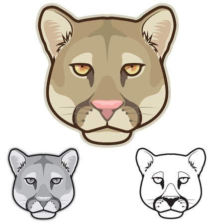 Cougar Face Vector
