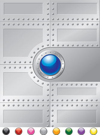 Steel Rivets Cover 向量圖像