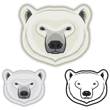 Polar Bear Face Vector