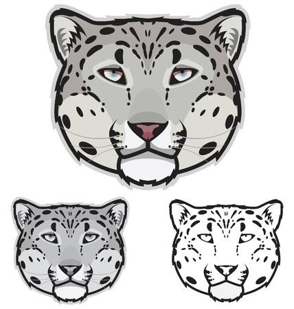 leopard head: Snow Leopard Face