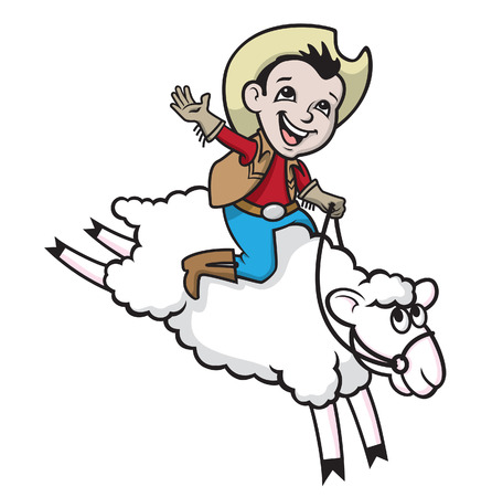 mutton: Mutton Bustin Illustration