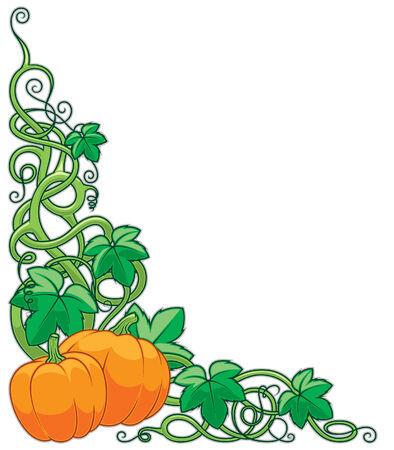 pumpkin border: Pumpkin and Vines Border