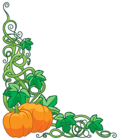 Pumpkin and Vines Border