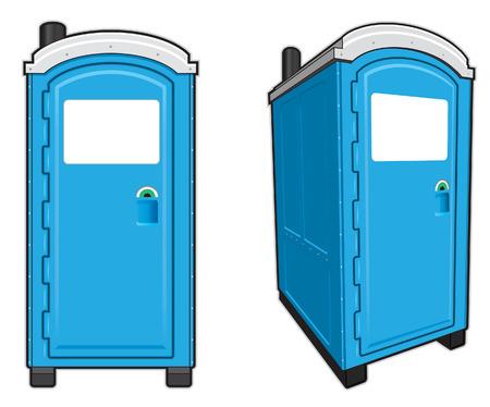 Portable Toilets  イラスト・ベクター素材