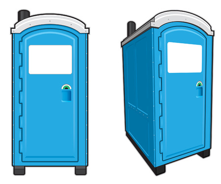 toilet door: Portable Toilets Illustration