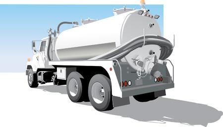 camión cisterna: Camión Bomba Volver la vista lateral Vectores