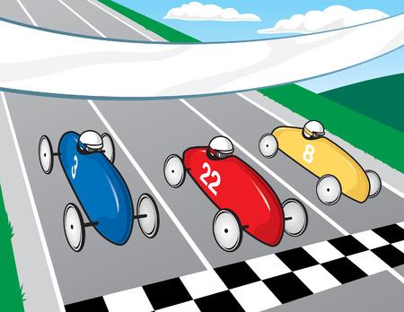 Soapbox Derby Race Vector