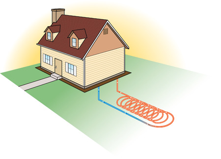 in ground: Riscaldamento-Coil Alternative Sistema Vettoriali