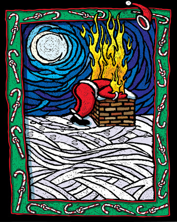 Burnt Santa 向量圖像