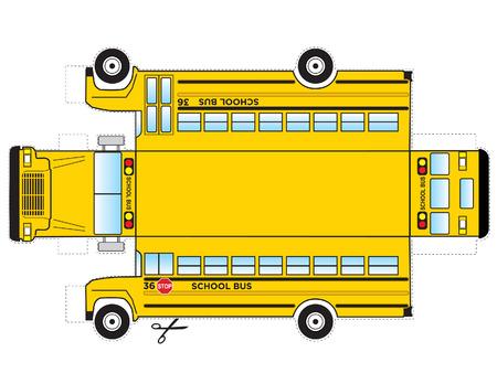 School Bus Cutout Illustration