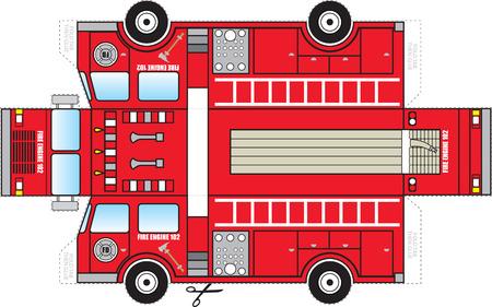 camion de pompier: Camion de pompiers d�coupe