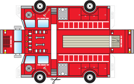 truck engine: Fire Truck Cutout