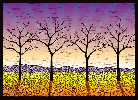 Four Leafless Trees