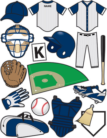 outfield: Baseball Items