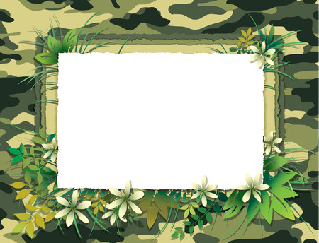 Green Camouflage Card