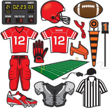 Football Items Vector