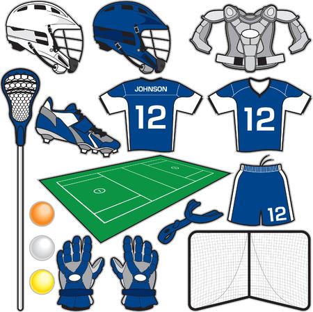 acolchado: Lacrosse Art�culos Vectores