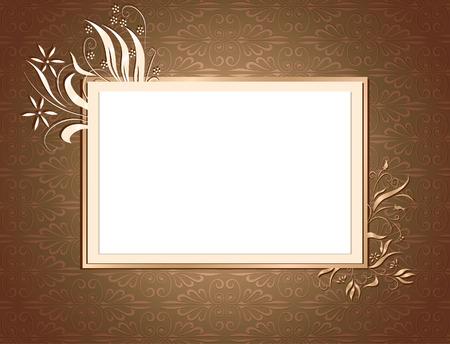 Brown Ornamental Card
