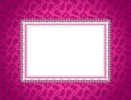 Pink Ornamental Card