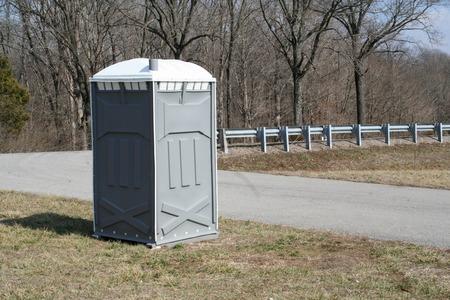 outhouse: Portable Toilet Stock Photo