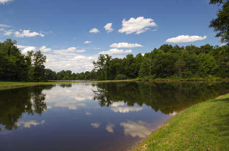 Landscape of a lake and blue sky