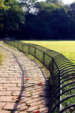esgrima: parque de esgrima Foto de archivo