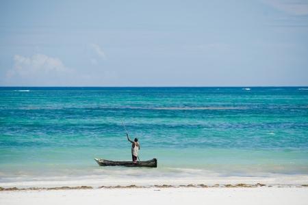 fishing boat in the Indian Ocean in Kenya