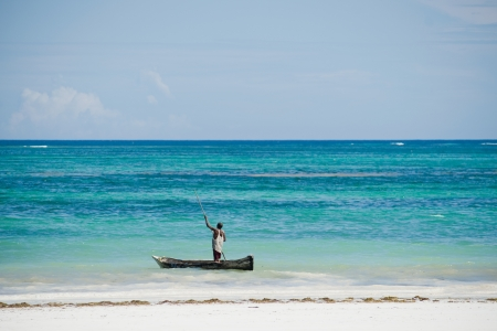 fishing boat in the Indian Ocean in Kenya