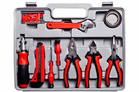 hex key: toolbox set of tools include hammer wrench bit driver pliers hex key bush level hex key