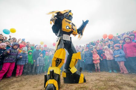 Russia. Moscow region. Balashikha - September 18, 2016. Show of transformers for children Editorial