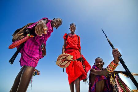 Tribu africaine. Maasai Banque d'images - 76901567