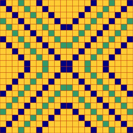 Abstract geometric seamless pattern origins from ancient Egypt. Illustration
