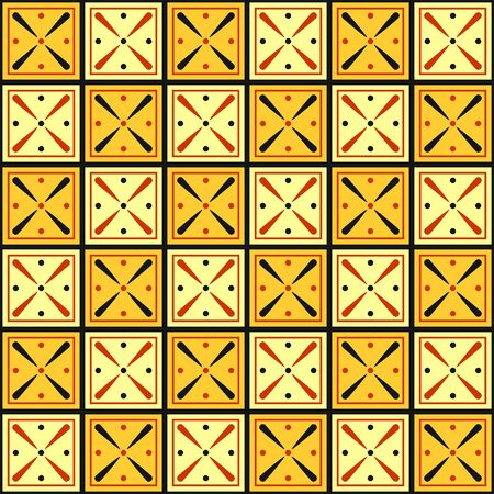 Abstract geometric seamless pattern origins from ancient Egypt.