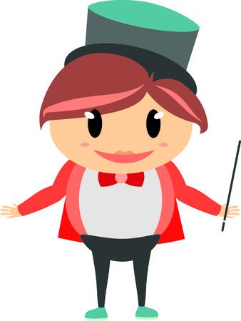 png: Cute Magician Girl Illustration