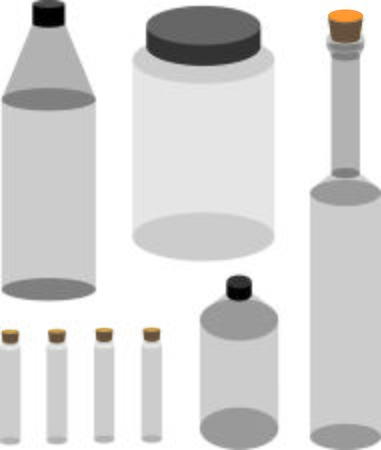png: Variety of Bottles