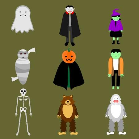variety: Variety of Ghosts Illustration