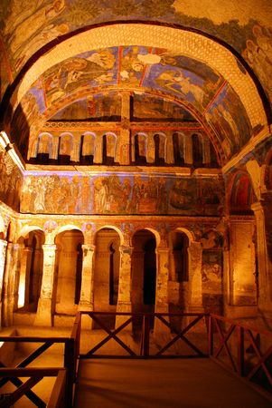 Dark church in Gereme, Cappadocia Stock Photo - 1124521