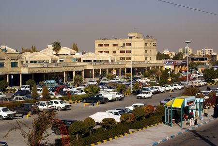 esfahan: Bus station in esfahan Stock Photo