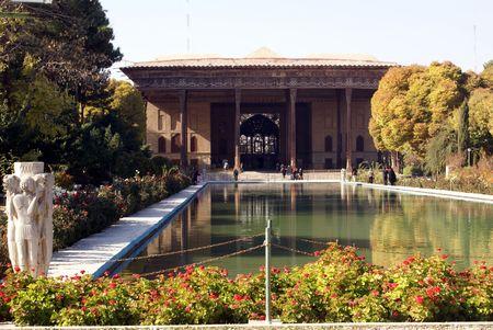 esfahan: Palace Chehel Sotun in Esfahan Stock Photo