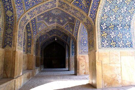 esfahan: Inside mosque Imam in Esfahan