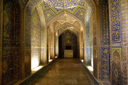 sheikh: Inside mosque Sheikh Lotfolla in Esfahan