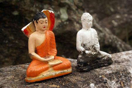 god box: Two Buddhas in Aluvihara monastery, Sri Lanka